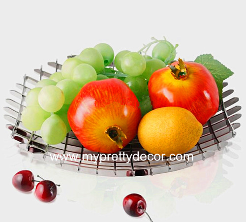 Decorative Stainless Fruit Bowl