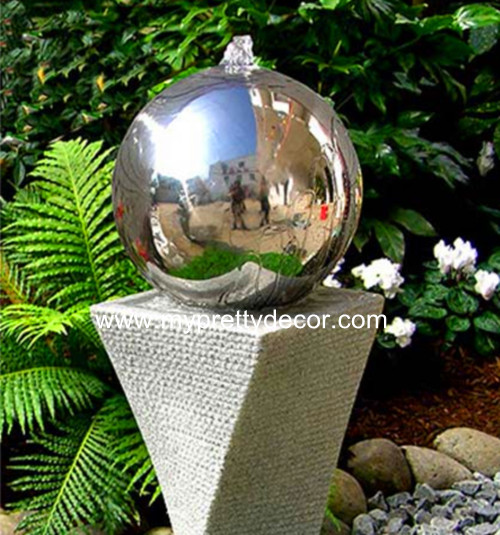 Garden Steel Fountain Ball