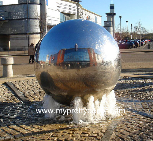 Water Fountain Steel Sphere