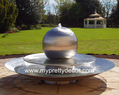 Steel Sphere Water Fountain