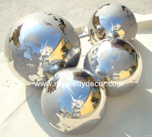 Continent Etched Hollow Globe Sphere