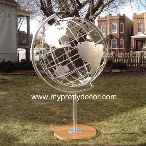 Stainless Steel Frame World Globes