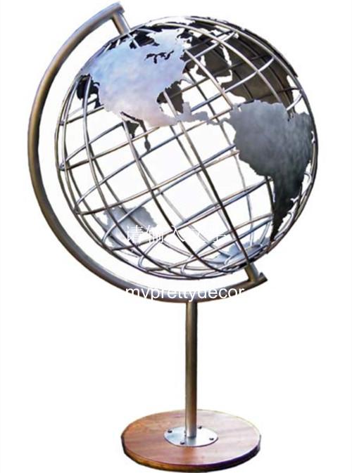 Stainless Steel Frame World Globes