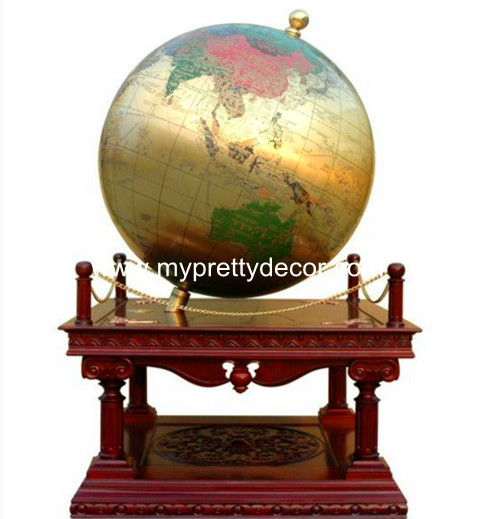 Brass Carved Globes Sphere